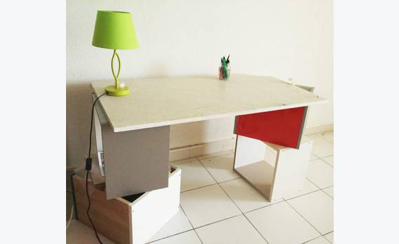 Plaque de marbre blanc bureau meubles et décoration saint