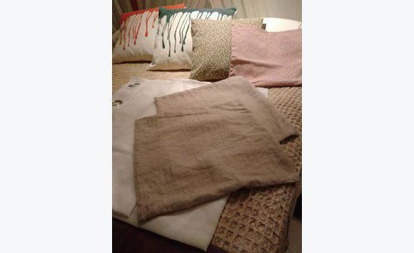Rideaux coussins et couvertures annonce linge de - Linum linge de maison ...