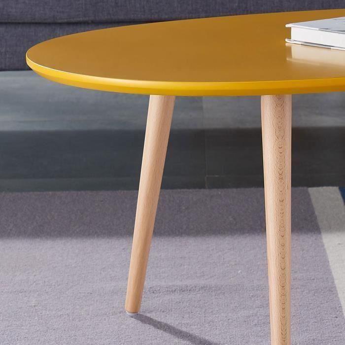 table basse scandinave laqu e jaune moutarde meubles et d coration saint martin cyphoma. Black Bedroom Furniture Sets. Home Design Ideas