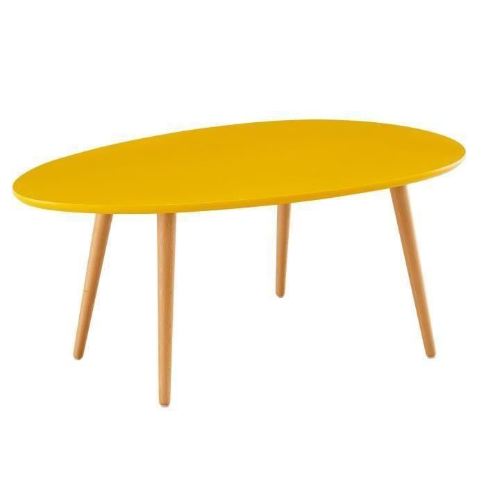 table basse scandinave laqu e jaune moutarde meubles et d coration saint martin. Black Bedroom Furniture Sets. Home Design Ideas
