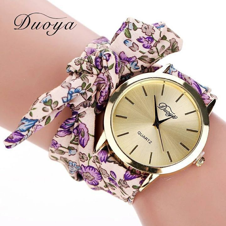 girls geneva watches brand bracelet fashion sweet ladies watch cloth floral chiffon belt strap new product
