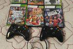 Xbox360 slim 6 games 2 controller