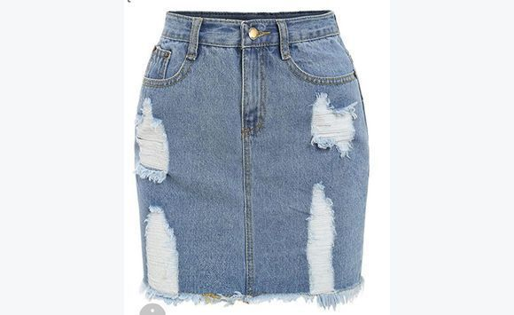 Women's Casual Distressed Frayed Pencil Short