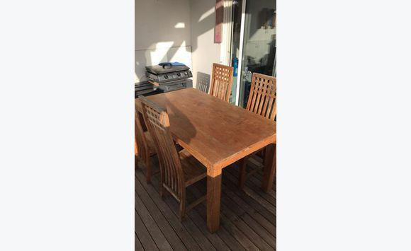 Teak Table With Chairs Classified Ad Furniture And Decoration - Teak table and 4 chairs