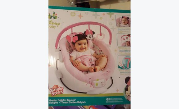 bf19ea68392f big sale 207ab 1d339 play pen baby gym minnie mouse bouncer ...