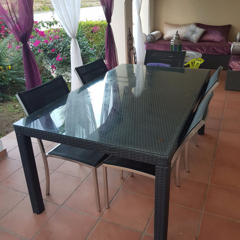Table Resin 6 8 Pers 5 Chairs Alu Saint Martin