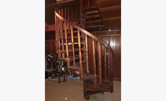 South American Hard Wood Spiral Staircase