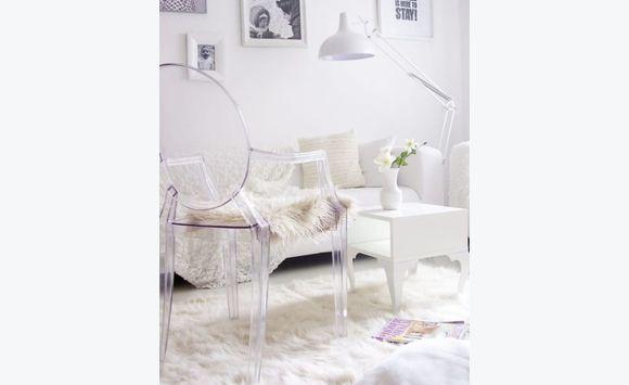 tapis blanc luxy - Tapis Blanc