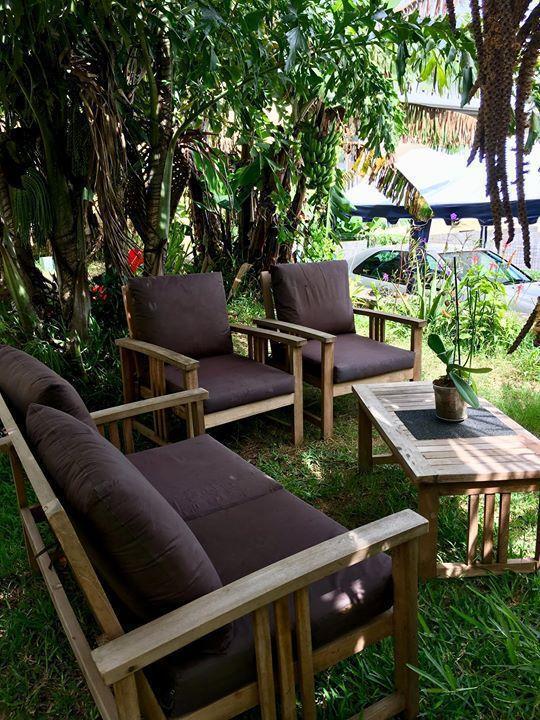 Salon jardin en acacia