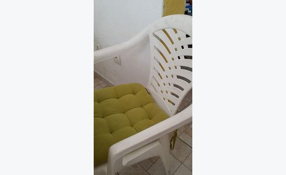 3 Coussins Assises De Chaises Vert Pomme Anis