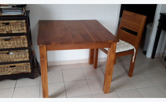 Table And Chairs Teak Furniture And Decoration Saint Martin - Teak table and 4 chairs