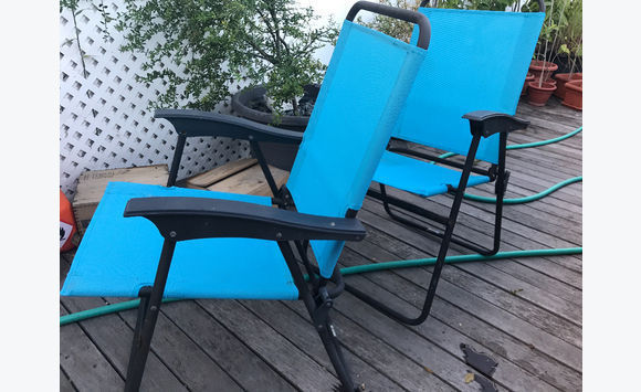 Set of beach chairs