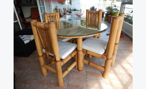 Ensemble Table Et Chaises Bambou