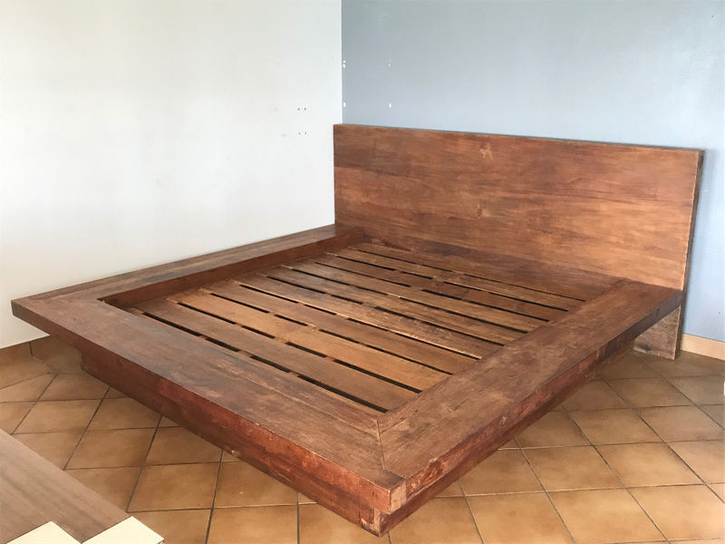 Solid Wooden Bed Wood Assemblies Furniture And Decoration