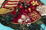 Kerst decoratie, boom rok en decoraties