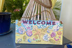 Cadre deco «  welcome St Barth »