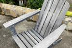 Adirondack wood armchair